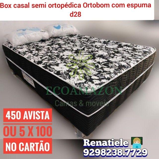 Cama Box Casal Espuma D28 ((Ortobom)) frete gratis