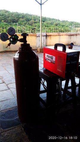Máquina  de solda tiver (inox) 200 amperes com garrafa de argonio  e regulador de pressão  - Foto 2