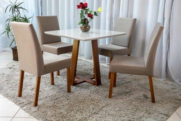 Mesa Vitri 4 Cadeiras 90x90 - Entrega Rápida - Foto 3