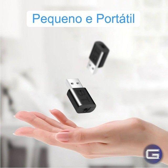 Bluetooth Veicular USB Adaptador para Som de Carro - Foto 3
