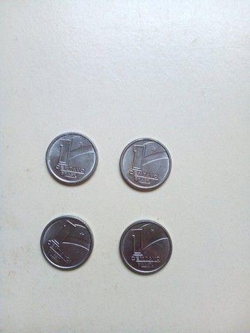 4 moedinhas de 1 centavo de 1989