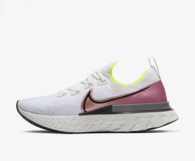 <br>Tênis Nike React Infinity Run Flyknit Masculino<br>(Usado 5X)<br> - Foto 4