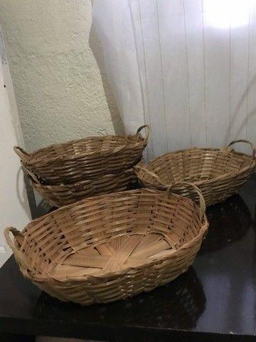 Cestas de bambu e balaoes para revenda - Foto 3
