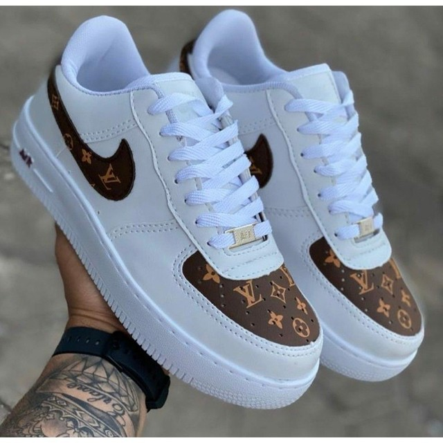 Nike Air Force-Louis Vuitton Unissex
