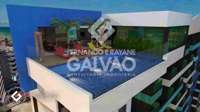 Quarto /Sala  com Varanda Gourmet, financ. banco, 1ª quadra da praia de Jatiúca! - Foto 3