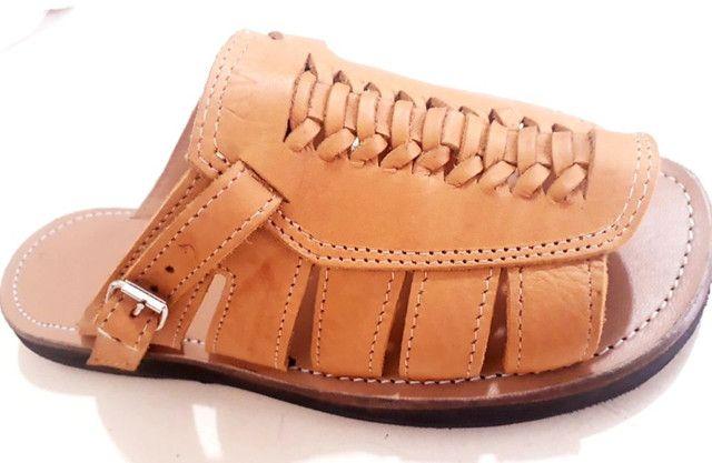 Sandália de couro legítimo!!! - Foto 2