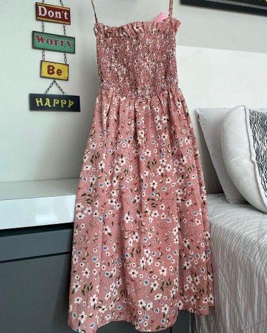 Vestido roda florido