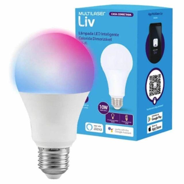 Lâmpada LED Inteligente Bulbo Multilaser Colorida Dimerizável Wi-Fi SE224