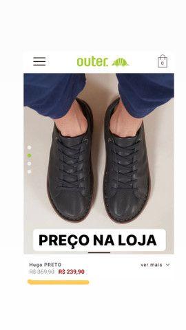 Sapato em couro legítimo Outer - Foto 3