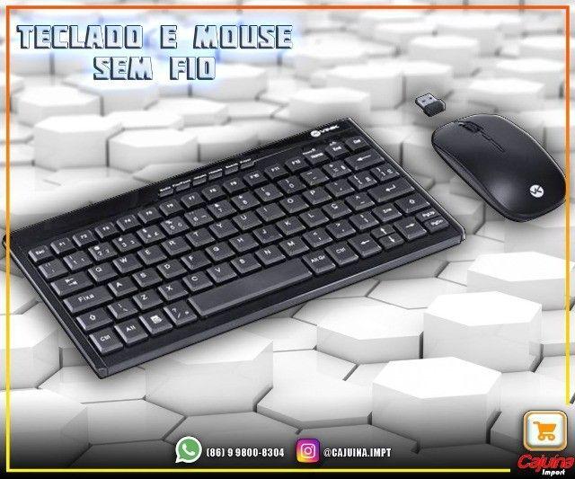 Teclado Mini E Mouse Sem Fio Dynamic Flat Abnt2 1200Dpi Preto Usb - Dc110 M21sd9sd21 - Foto 3