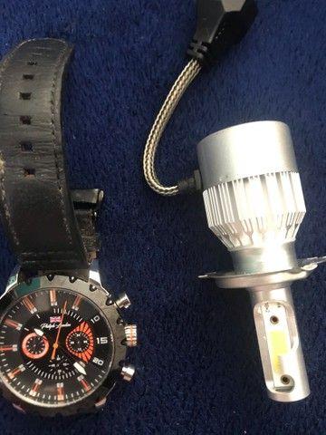 Relógio e Led