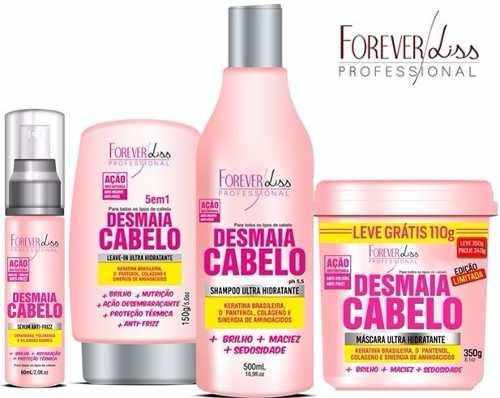 Kit Desmaia Cabelo Forever Liss Anti Volume e Frizz (4 Itens)