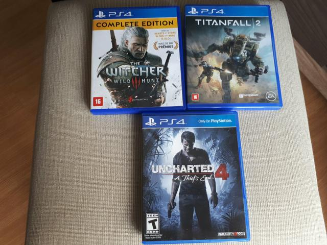 PS4 - Witcher 3 Complete Ed, Uncharted 4, Titanfall 2