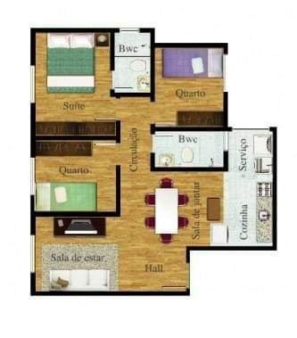 Venda apartamento 3 quartos suíte guatupe São José dos pinhais - Foto 4