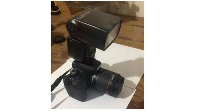 Câmera Digital Canon Dslr + Lentes + Flash 2800 clicks