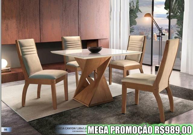 Super Promoção - Sala de Jantar em Laica