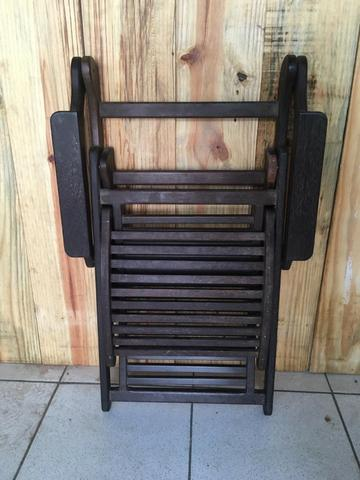 Cadeira de descanso em madeira sucupira - Foto 4