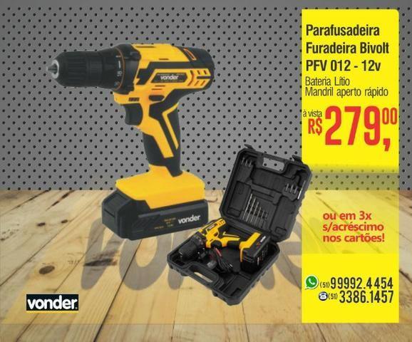 Parafusadeira e furadeira PFV a bateria biv. aut.- Vonder