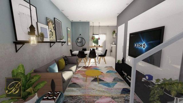 Sobrado com 3 dormitórios à venda, 99 m² por R$ 285.000,00 - Aventureiro - Joinville/SC - Foto 2