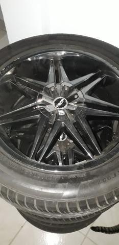 TORRO, Rodas 20 5 furos com pneus seminovos