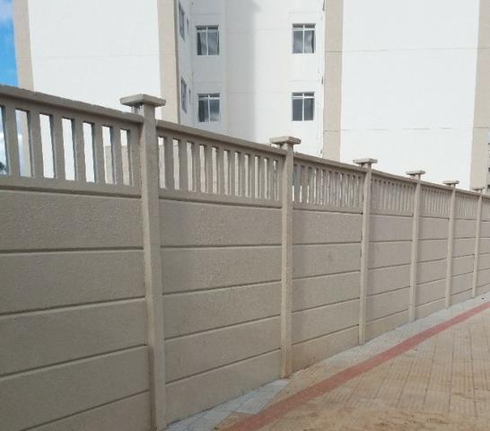Muro pré-moldado, chapéu de muro premoldado, casa prefabricada - Foto 2