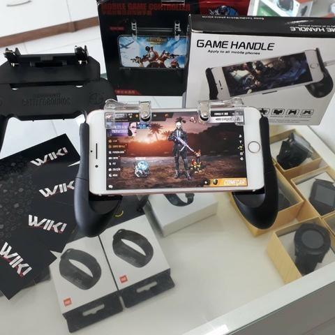 Joystick Gatilho L1 X R1 Metal E Suporte Celular Gamepad-(Loja na Cohab) - Foto 2