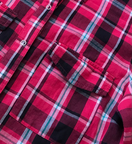 Blusa quadriculada manga comprida  - Foto 2
