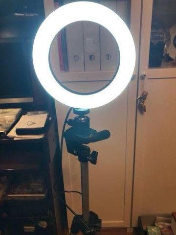 Ring Light 26cm Led com Tripé + Suporte central - Preco de Black Friday - Foto 3