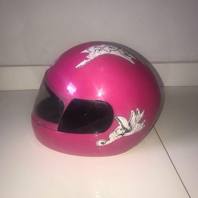 Capacete rosa tamanho 54 - Foto 3