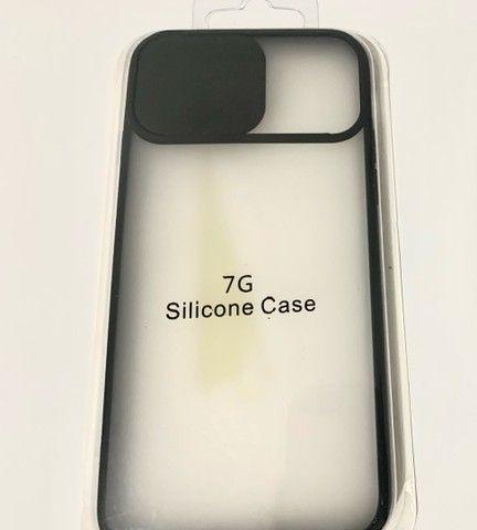 Capa silicone iphone 7 no precinho - Foto 3