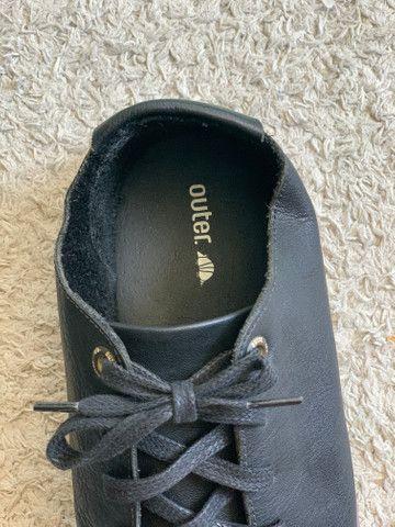 Sapato em couro legítimo Outer - Foto 6