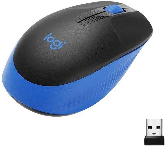 Mouse Óptico Sem Fio 2.4 Ghz 1.000 DPI Preto Logitech M190 Novo original
