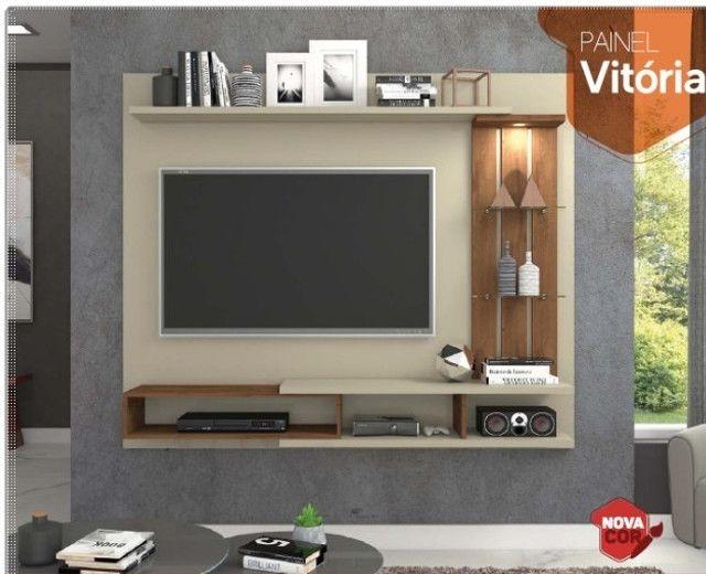 Rack suspenso com design moderno LED embutido e aplique decorativo - NOVO - Foto 3