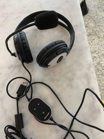 Headphone Microsoft LifeChat LX-3000, fora da caixa, mas sem uso, na garantia - Foto 4