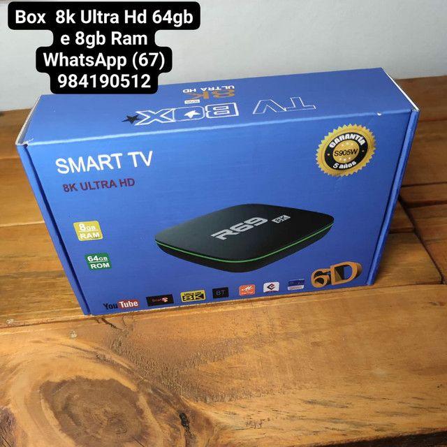 Tv Box  8k Ultra Hd 64gb e 8gb Ram