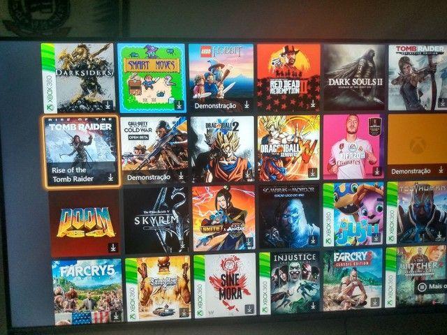 Xbox one com conta com + de 100 jogos  - Foto 2