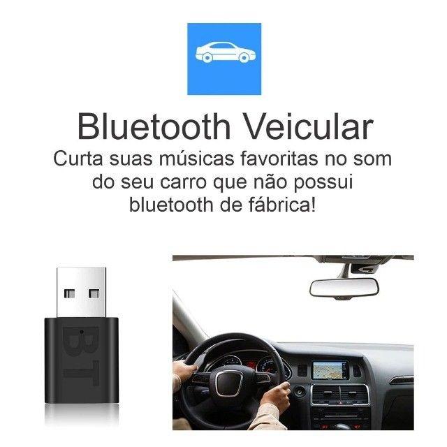 Bluetooth Veicular USB Adaptador para Som de Carro - Foto 2