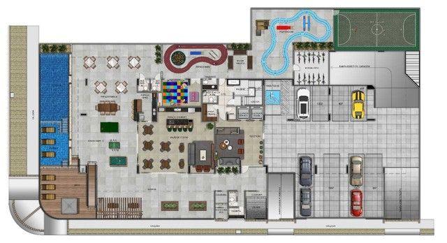 02 quartos [59m²] ÷ 120 meses, c/ Varanda, entre o Espaço Educar e Palato - Foto 17