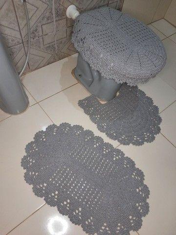 Jogo de banheiro em crochê simples - Foto 5