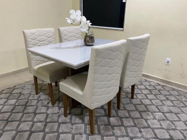 Mesa de Jantar Mari 4 Cadeiras- Entrega Rápida - Foto 2