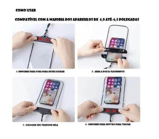 Capa para celular A prova D`água universal - Iphone, Samsung, Motorola, entre outros - Foto 3