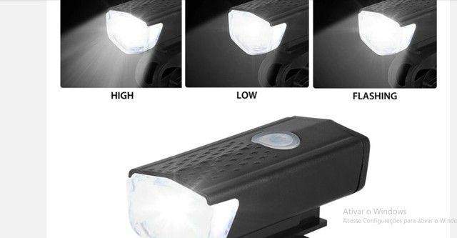 Farol, Lanterna para bicicleta Usb recarregável luz, Bike Dianteira e traseira ? R$ 55,00 - Foto 5