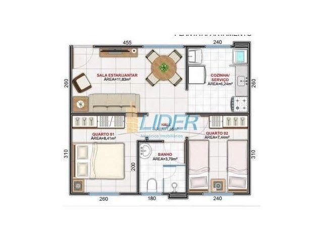 Apartamento à venda com 2 dormitórios em Shopping park, Uberlandia cod:18590 - Foto 2