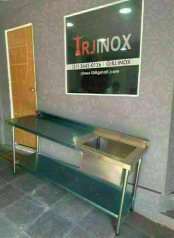 Mesa aço inox profissional