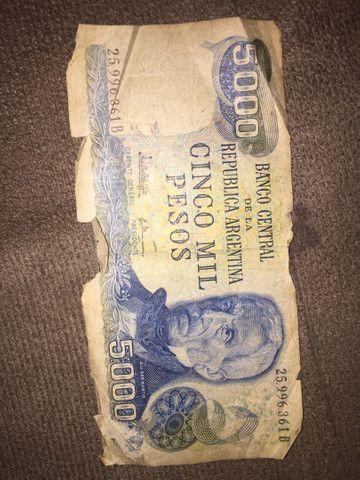 Vendo 5000 mil pesos antigo