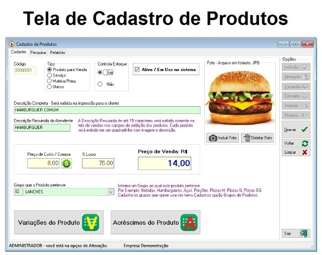 Sem Mensalidades - Sistema de Gestão para Deliverys, Lanchonetes, Açaí, Pizzarias - Foto 2