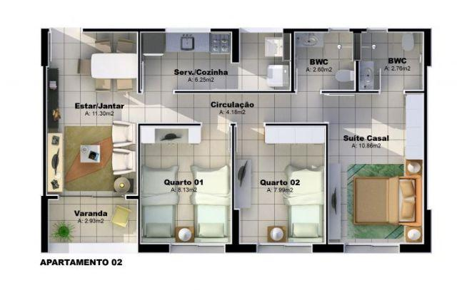 Apartamento 3 quartos 2 vagas no Carlito Lima, Nova Betânia