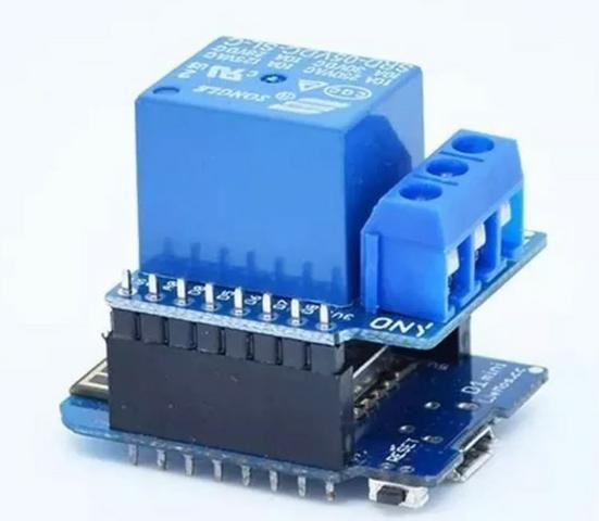 COD-AM126 Rele Shield P/ Wemos D1 Mini - Esp8266 Wifi Arduino Automação Robotica