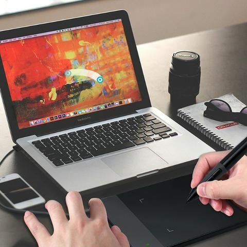 Mesa Digitalizadora Huion 420 Black + Luva+ Pilha +10 Pontas