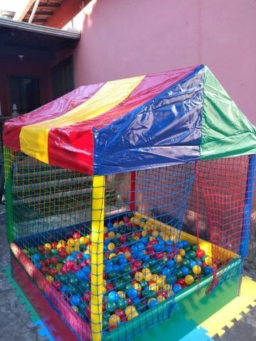 Combo, Locação de brinquedos 2 em 1, cama elástica com piscina de bolas - Foto 4